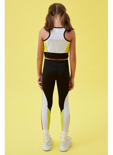 Defacto –Fit Kız Çocuk Slim Fit Renk Bloklu Tayt Siyah